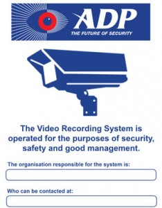 ADP Security - CCTV signage